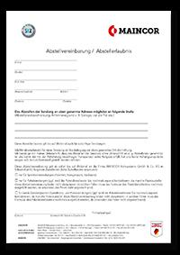 Abstellvereinbarung