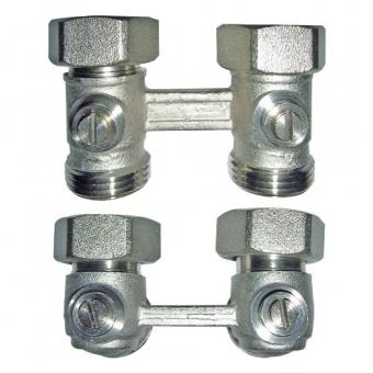 """MPX / MPR Joint for valve radiators Twofold joint square form 3/4"""""""
